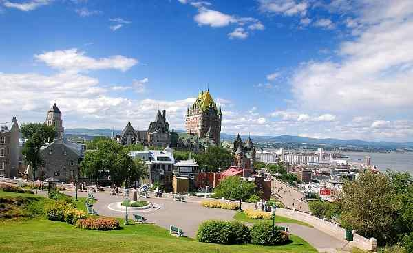 EAST-EXPRESS Kanada Quebec City View of old Quebec