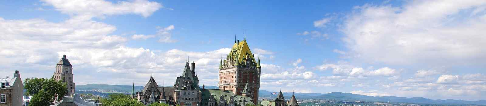 PARKS-EAST -Kanada Quebec City View of old Quebec and the Ch�teau Frontenac